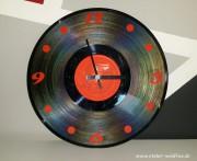 Schallplatten-Uhr