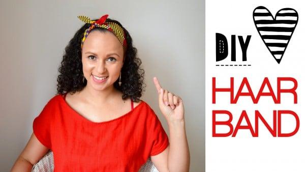 DIY Haarband mit kostenlosem Schnittmuster - HANDMADE Kultur