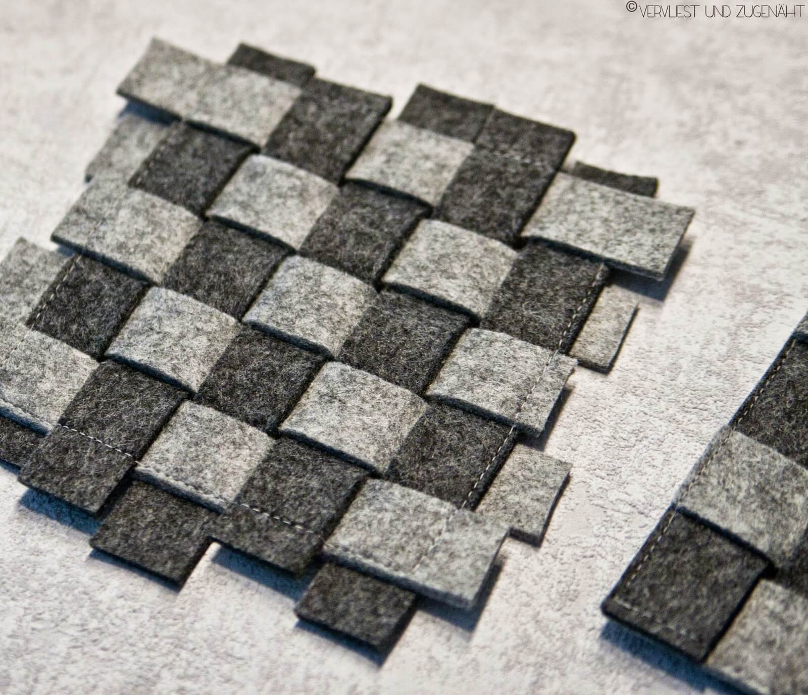 filzuntersetzer handmade kultur. Black Bedroom Furniture Sets. Home Design Ideas