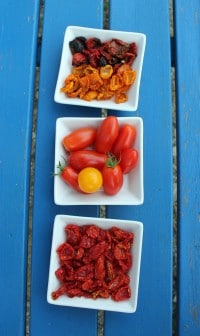 Getrocknete Tomaten... und leckere Tomatenbutter