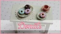 FIMO Donuts | polymerclay miniature art