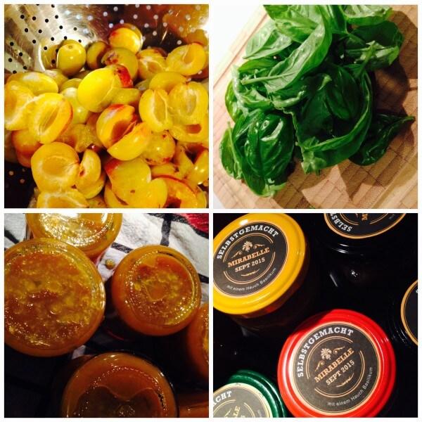 Marmelade plus X…heute: Mirabelle mit Basilikum