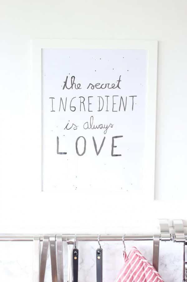 Ein Spruch für die Küche - HANDMADE Kultur