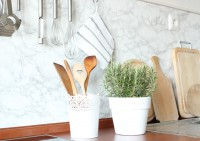 Küche mit Marmorfolie renovieren