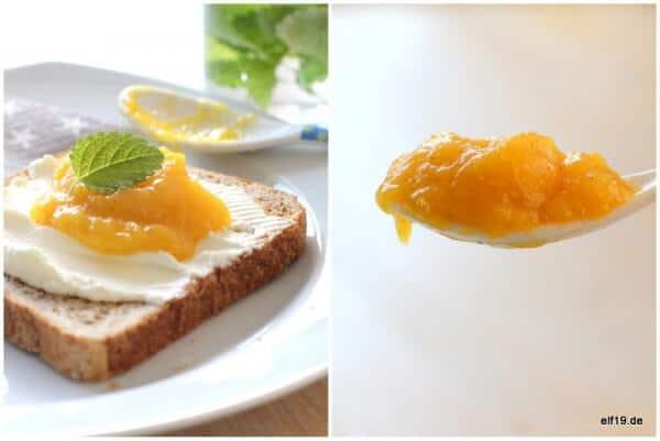 {Sommer im Glas: } Mango Aufstrich mit weißer Schokolade