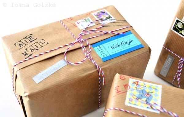 Postpaket-Geschenkverpackung