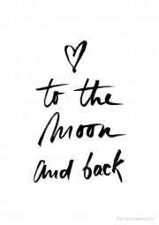 Poster - (Love) To the moon and back