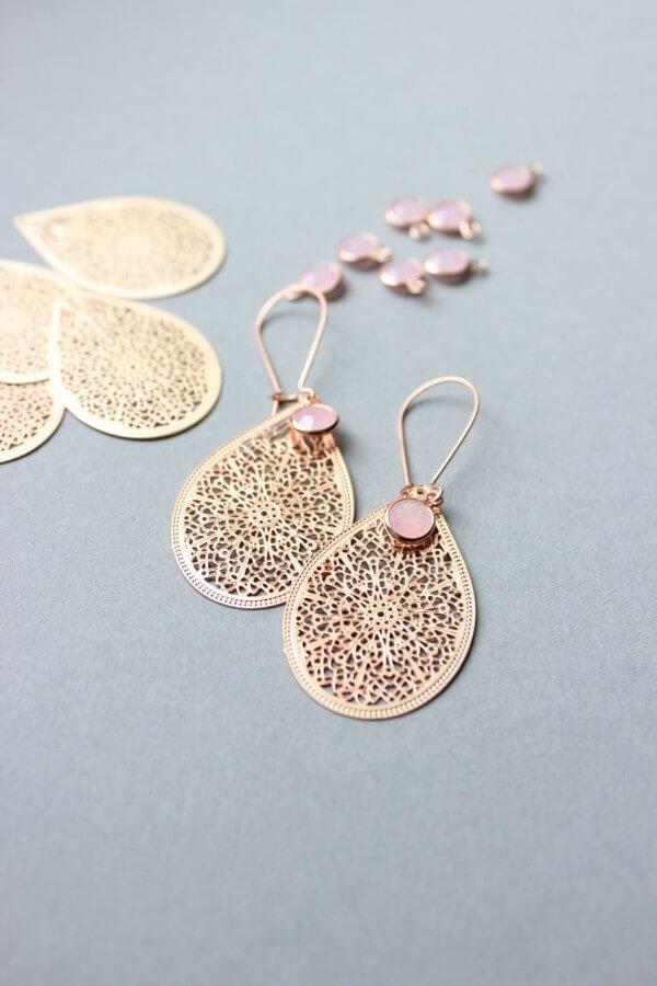 DIY - Orientalische Ohrhänger aus rosegold