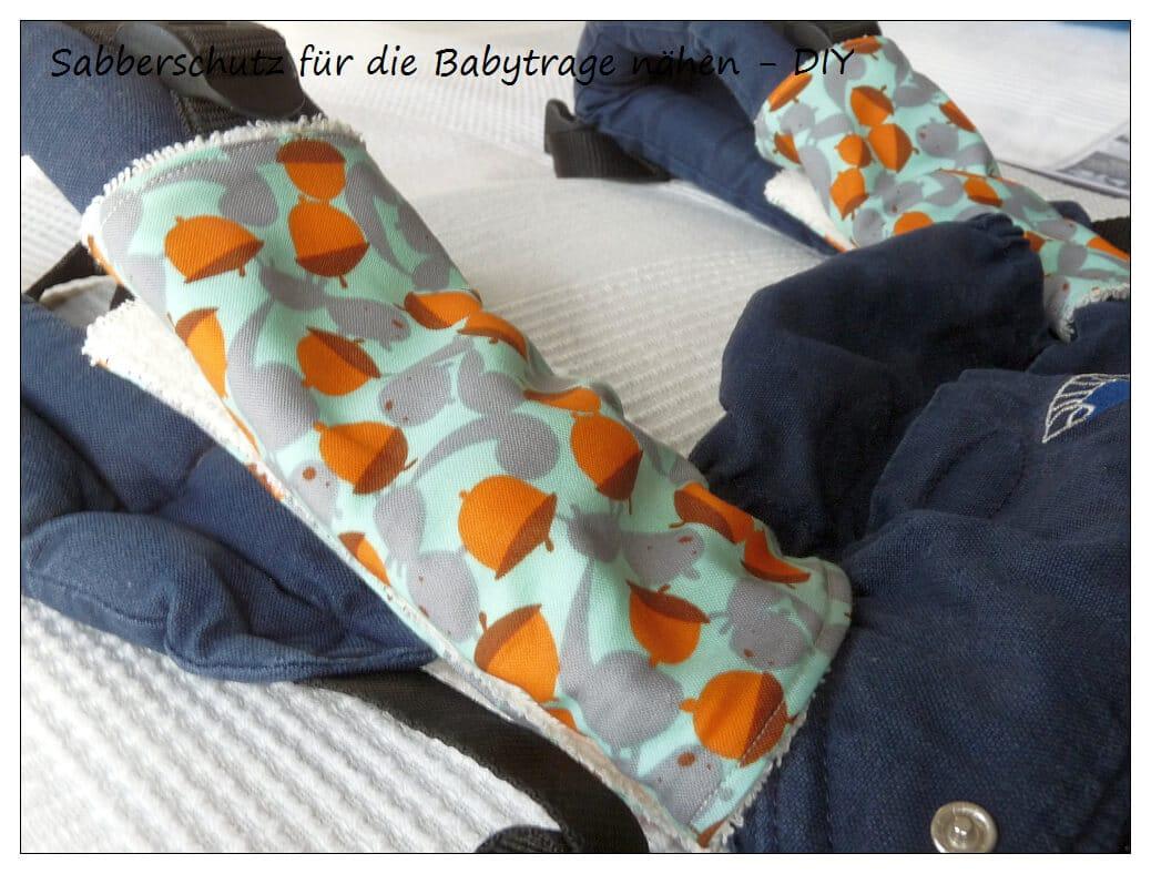 Sabberschutz für die Babytrage nähen - DIY - HANDMADE Kultur