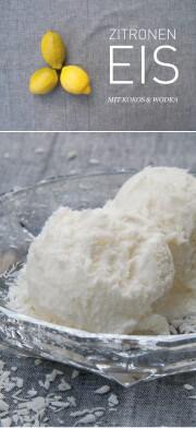 Zitronen-Kokos-Eis mit Wodka