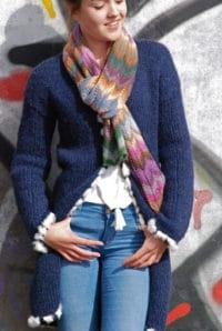 Schal stricken mit Zickzackmuster