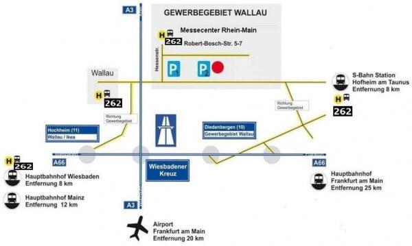 Anreise zu DIY-Messe kreativAll im Messecenter Rhein-Main, 19-21.02.2016