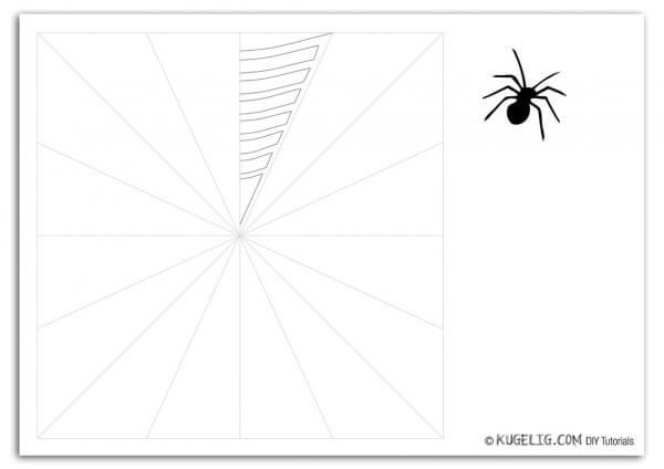 15 Minuten Halloween Dekoration Spinnennetz Mit Spinne Handmade