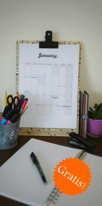 Freebie: Gratis Kalender 2016