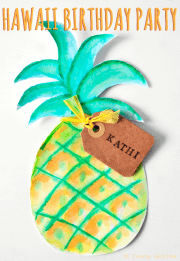 DIYs + Freebie für eine Hawaii Party