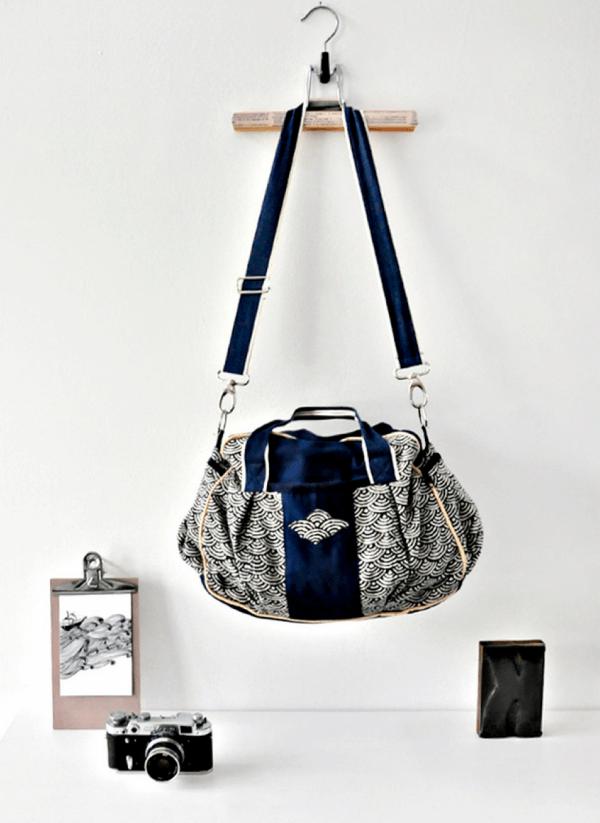 Kugeltasche und Portemonnaie aus japanischen Stoffen