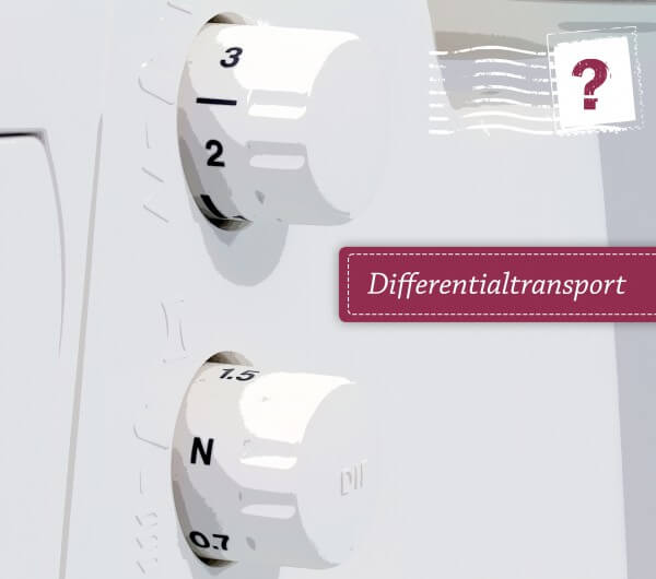 Differentialtransport bei Nähmaschinen