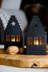 DIY Haus-Windlicht