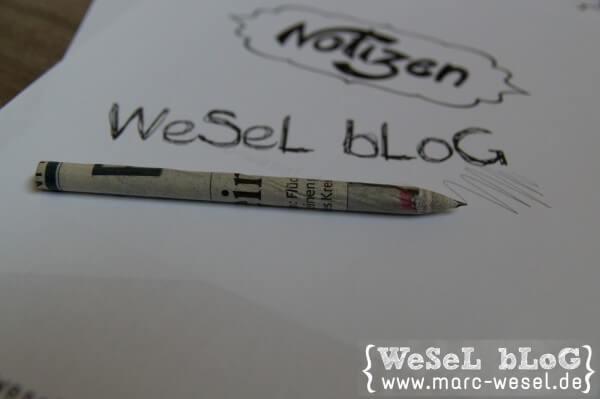 Papier-Bleistift – DIY Anleitung
