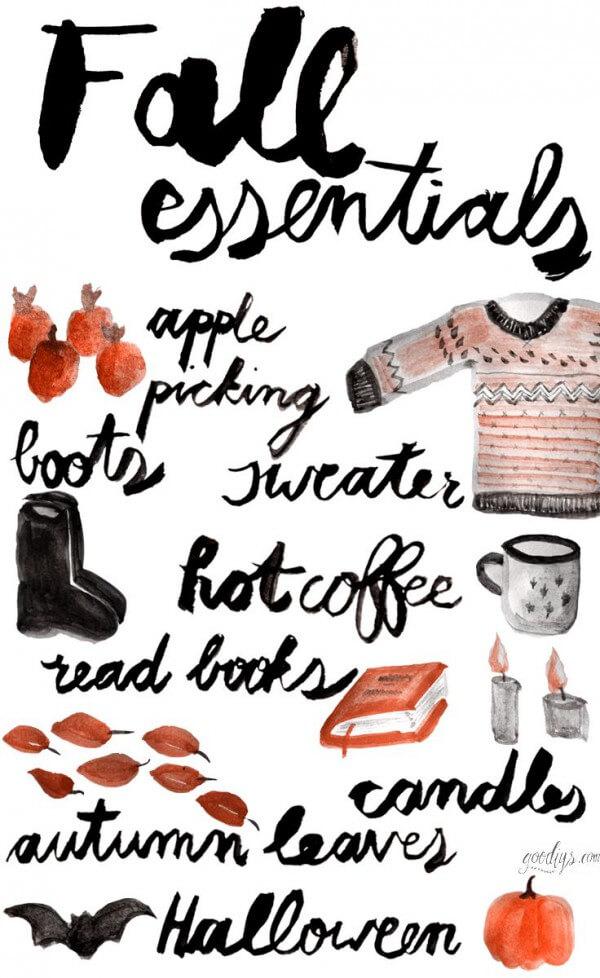 {DIY} Illustration meiner 8 Herbst-Essentials