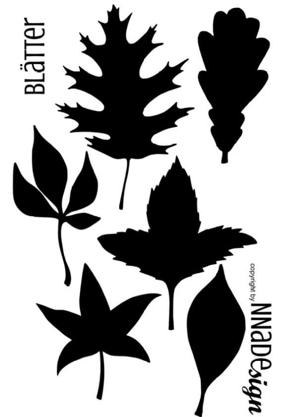Plotterdatei Herbstblätter