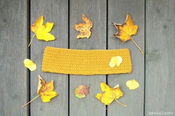 Gehäkeltes Herbststirnband