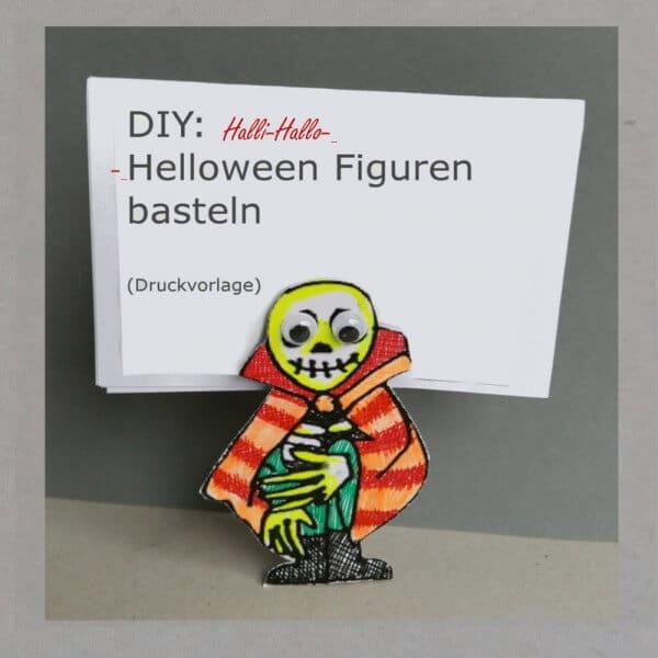 Halloween-Malvorlage zum Monster basteln