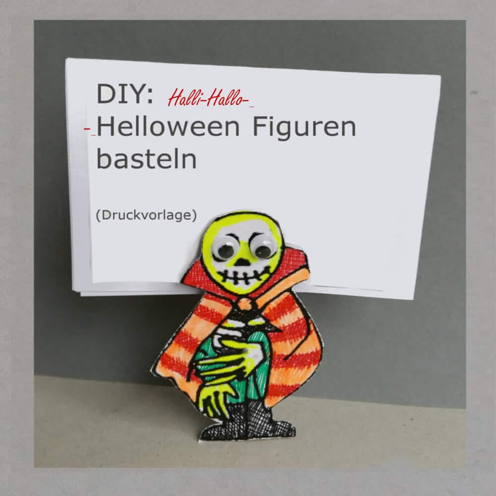 Halloween-Malvorlage zum Monster basteln - HANDMADE Kultur