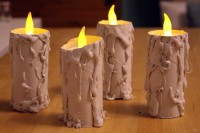 DIY kindersichere Halloween Kerzen