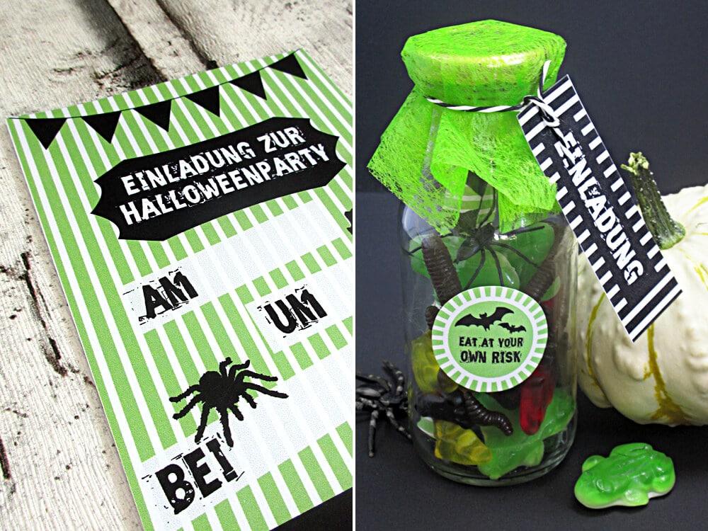 Einladung für deine Halloween-Party in der Flasche - Handmade Kultur