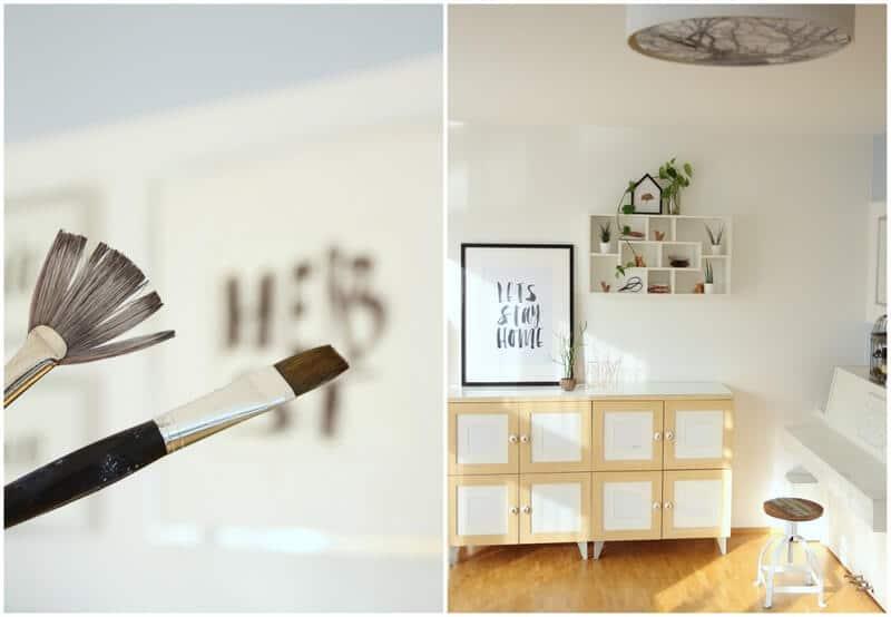 diy herbstdeko f r die wand typografie mit pinsel und tusche handmade kultur. Black Bedroom Furniture Sets. Home Design Ideas