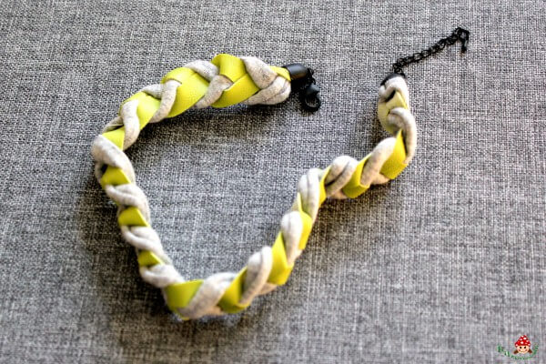 DIY Leder-Jersey-Armband