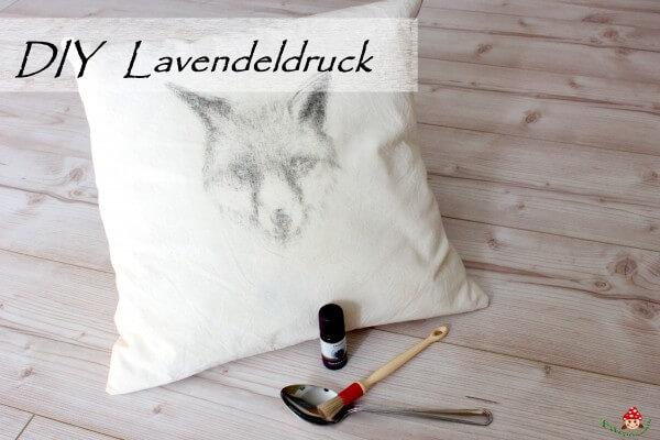 Individuelle Stoffe mit Lavendeldruck