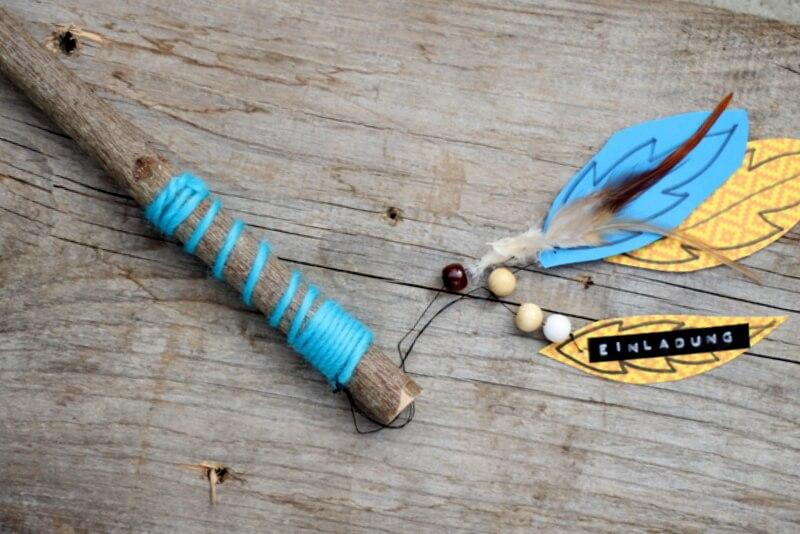 indian summer: einladung zum indianer geburtstag - handmade kultur, Einladung