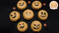 Gruselige Halloween Makronen