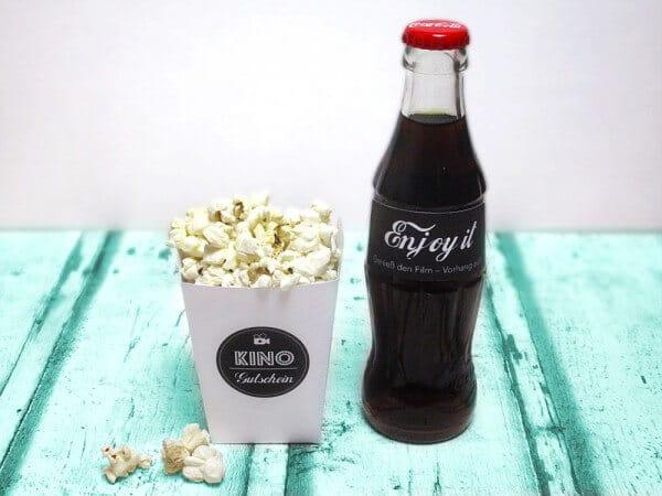 Einen Kinogutschein verschenken – in einer Popcornbox!