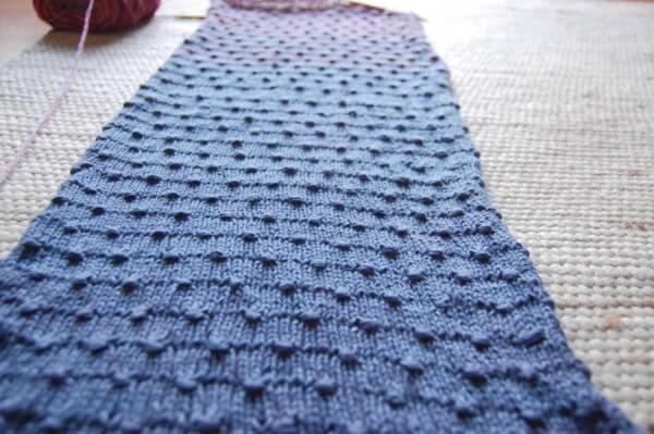 Anleitung Schal Stricken Mit Estonian Button Stitch Handmade Kultur