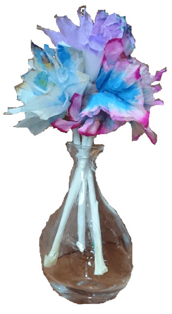Einfach und doch sehr effektvoll → Papierchromatographie oder unvergängliche Blumen