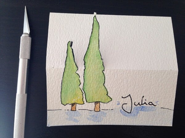 namensschilder fuer weihnachten basteln handmade kultur