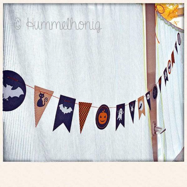 Girlande für Halloween