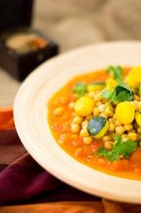 Indische Zucchini-Kichererbsen-Pfanne von den [Foodistas]