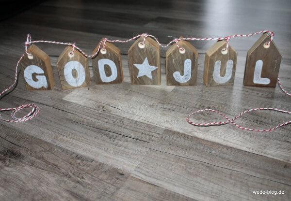 """Weihnachtdeko """"GOD JUL"""""""