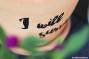 Blumentopf mit Überlebensmotte