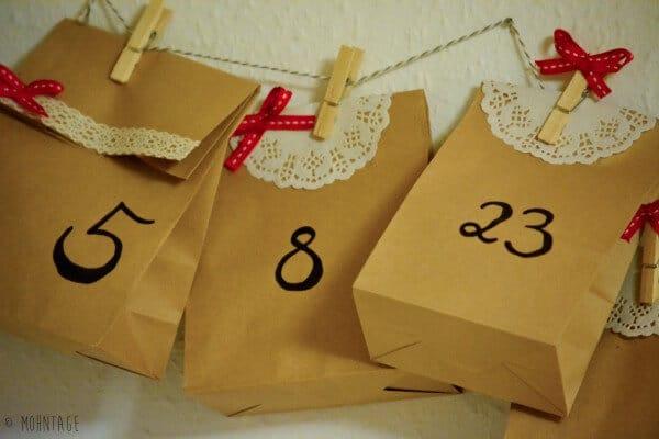 Quick-DIY-Adventskalender ... noch schnell eingetütet