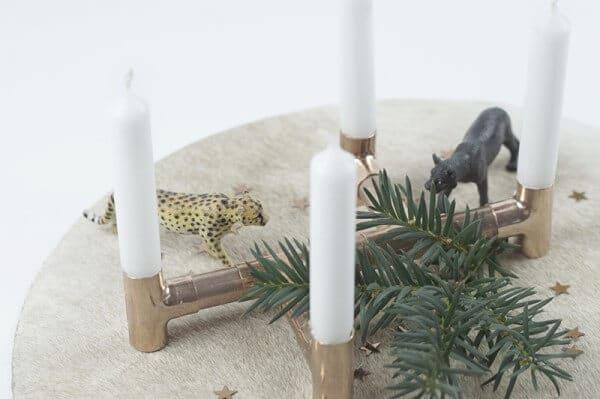 Adventskranz - nicht nur für Klempner :)