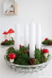 Von drauß' vom Walde: Mini-Adventskranz