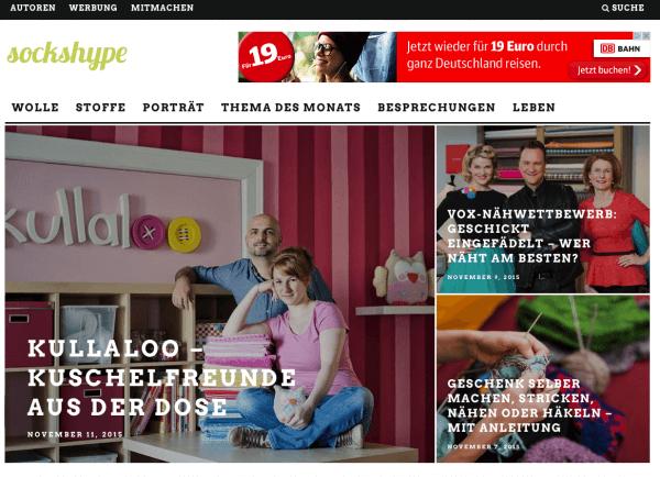 SOCKSHYPE - ONLINEMAGAZIN FÜR HANDARBEIT