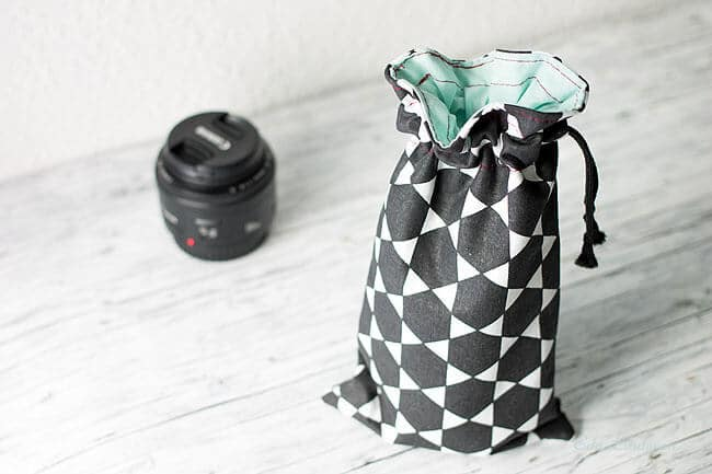 beutel zur aufbewahrung von kameraobjektiven handmade kultur. Black Bedroom Furniture Sets. Home Design Ideas