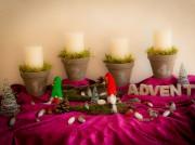 DIY Adventskranz - der etwas anderen Art