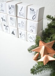DIY Adventskalenderzahlen zum Ausdrucken
